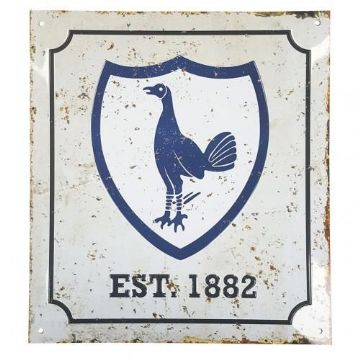 Tottenham Hotspur Retro Logo Sign